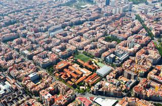 Vista aèria de l'Eixample Esquerre