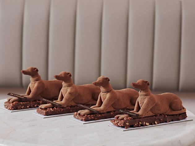 Chocolate dogs from The Connaught Patisserie
