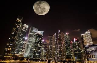 moon, singapore