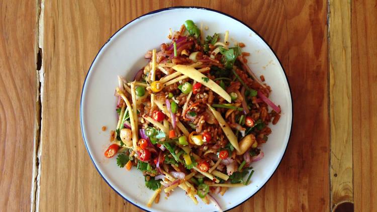 Night + Market crispy rice salad