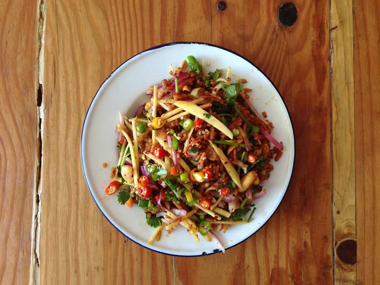 Los Angeles, CA: Crispy rice salad at Night + Market