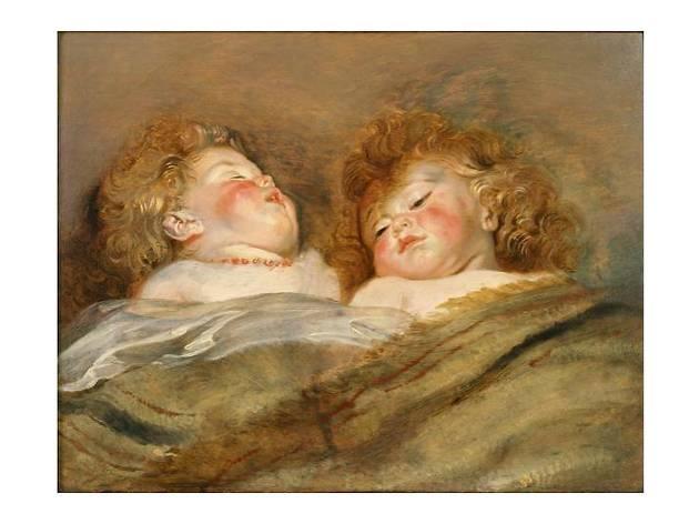 ペーテル・パウル・ルーベンス  《眠る二人の子供》 1612-13年頃 油彩、板 50.5×65.5㎝ 国立西洋美術館蔵