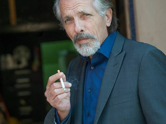 Randall King with cigarette