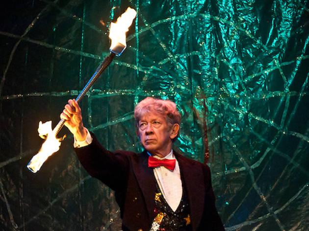 John Grimaldi twirling fire