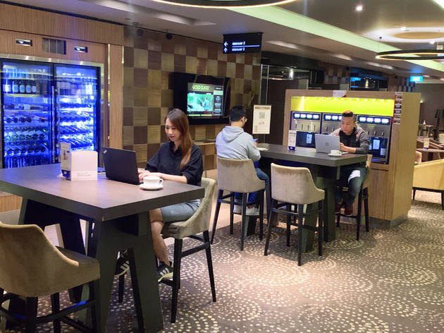 You can now work from Golden Village's Gold Class lounge at Suntec City