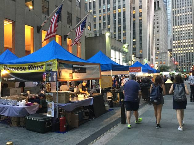 The popular Queens Night Market opens for lunch at Rockefeller Center