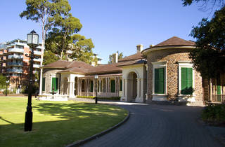 Exterior and driveway of Ayers House Museum