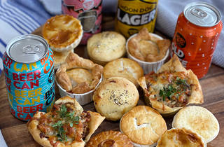 Pies and beers.