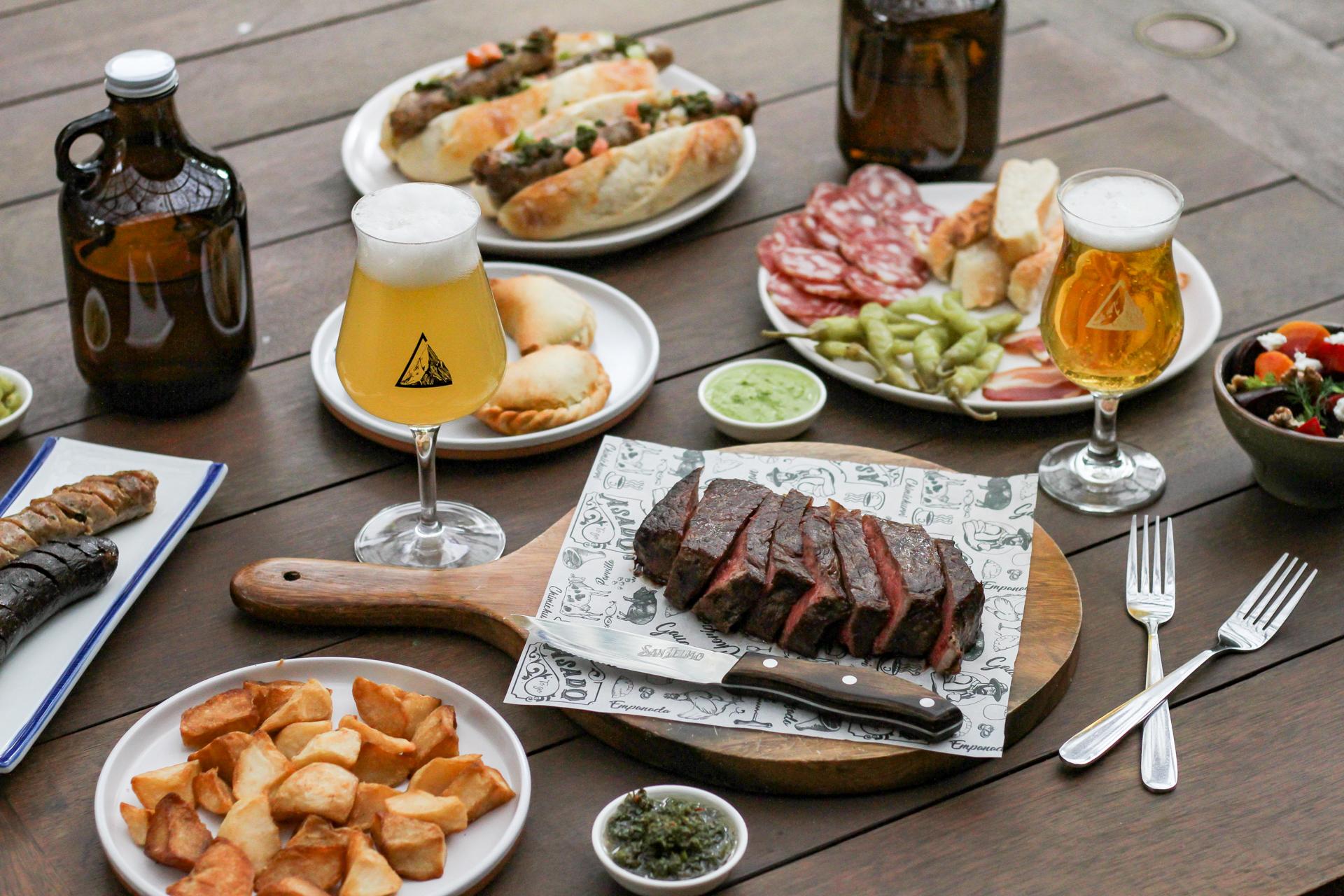 Barbeque, hotdogs, beers.