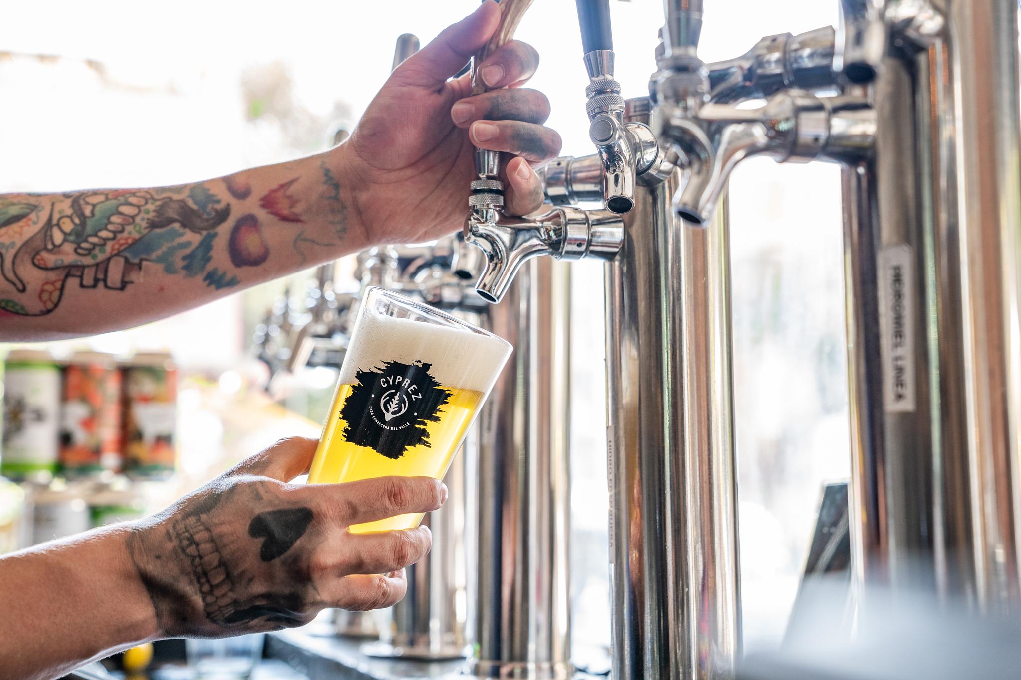 Cyprez Tap room cerveza artesanal de la CDMX