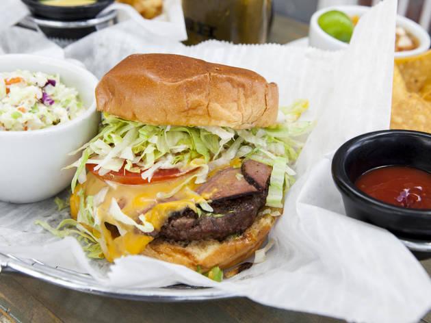 Cheeseburger at Kush Wynwood