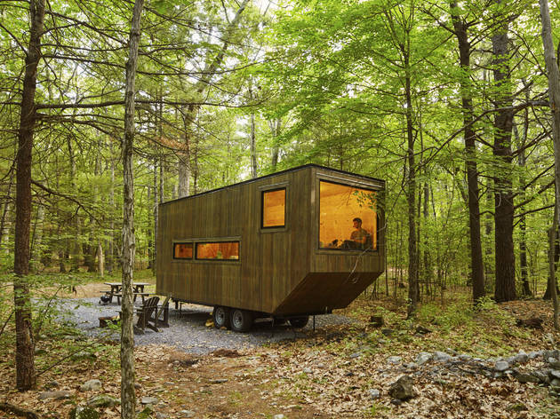 getaway, airbnb, forest, woods