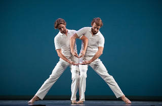 Adrian Danchig-Waring and Joseph Gordon in Lar Lubovitch's Concerto Six Twenty-Two
