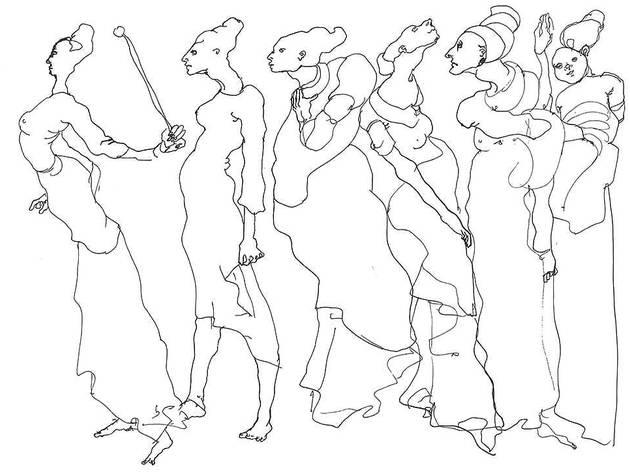 Desenho de Maria Antónia Siza