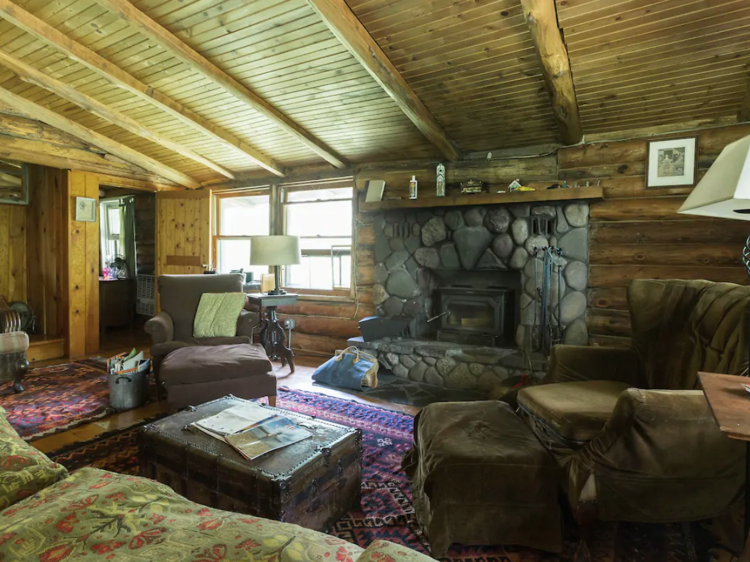 Phoenicia, NY | Log cabin with mountain views