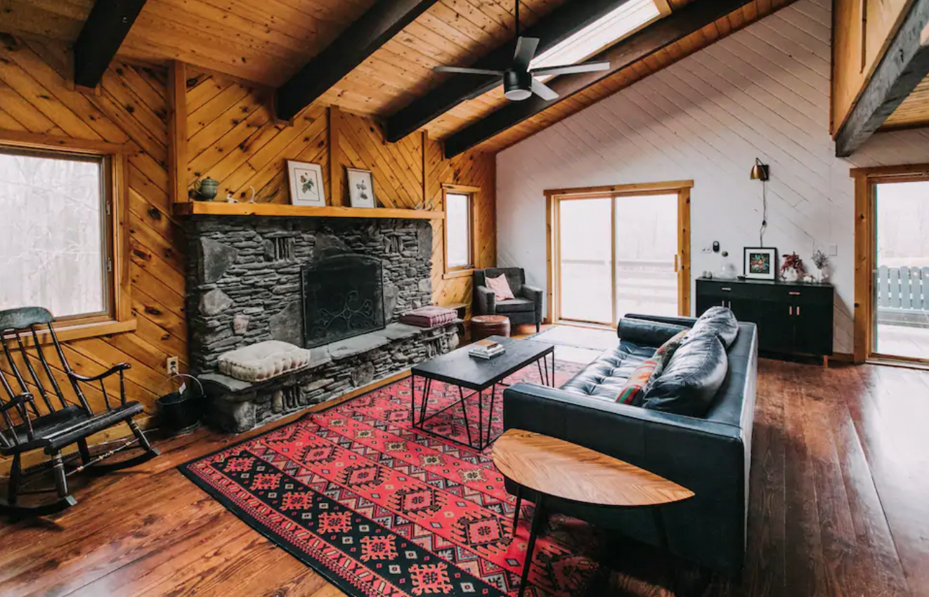 Black Bear fireplace airbnb