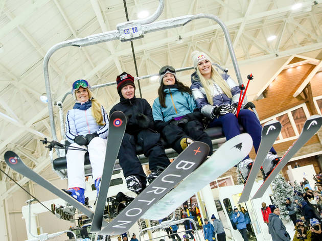 The nation's first-ever indoor snow park has changed its course layout