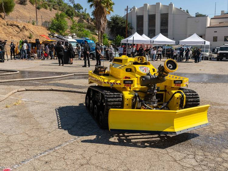 The not-so-little yellow robot that's fighting fires