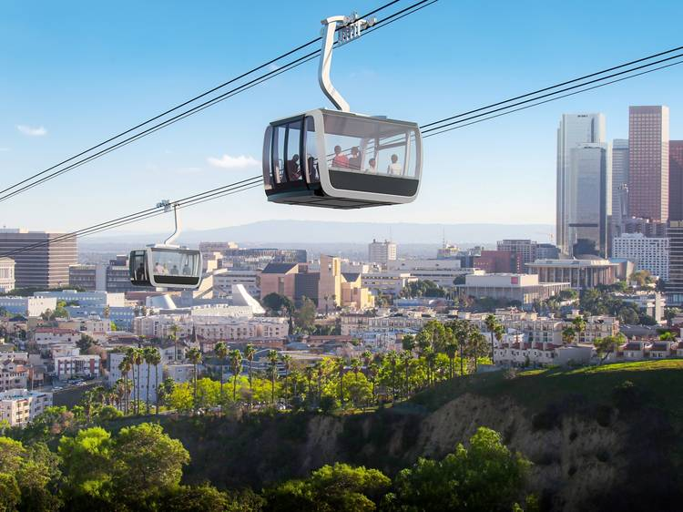 The gondola plans floated for L.A.'s most famous hillsides