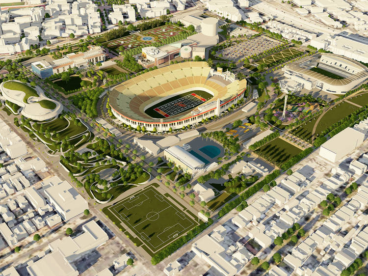 The park that's replacing its parking lots with more green space