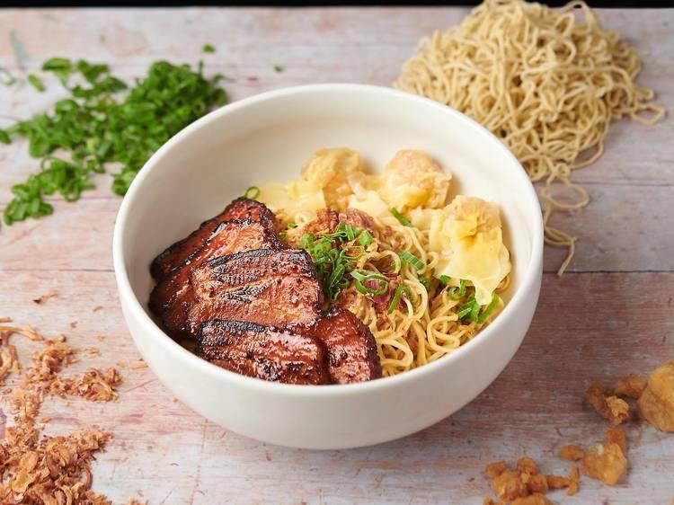 Char siu noodle at Wanton Seng's Noodle Bar