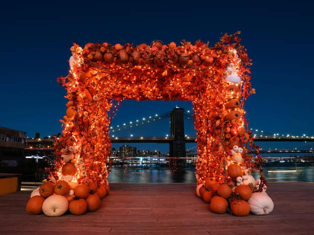 pumpkin arch pier 17