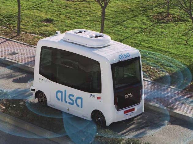 Primer bus sin conductor de España