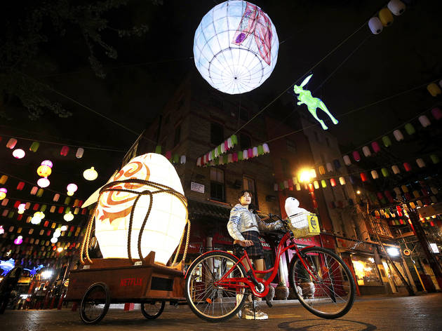 A sparkly new light installation has landed in Chinatown