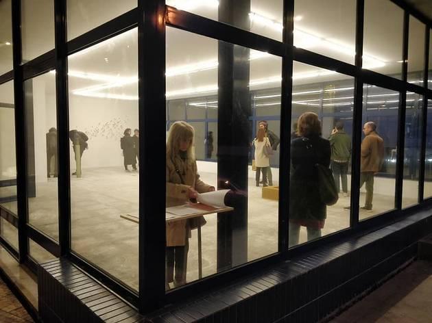 Espaço de exposição na Galeria Comercial Mota Galiza
