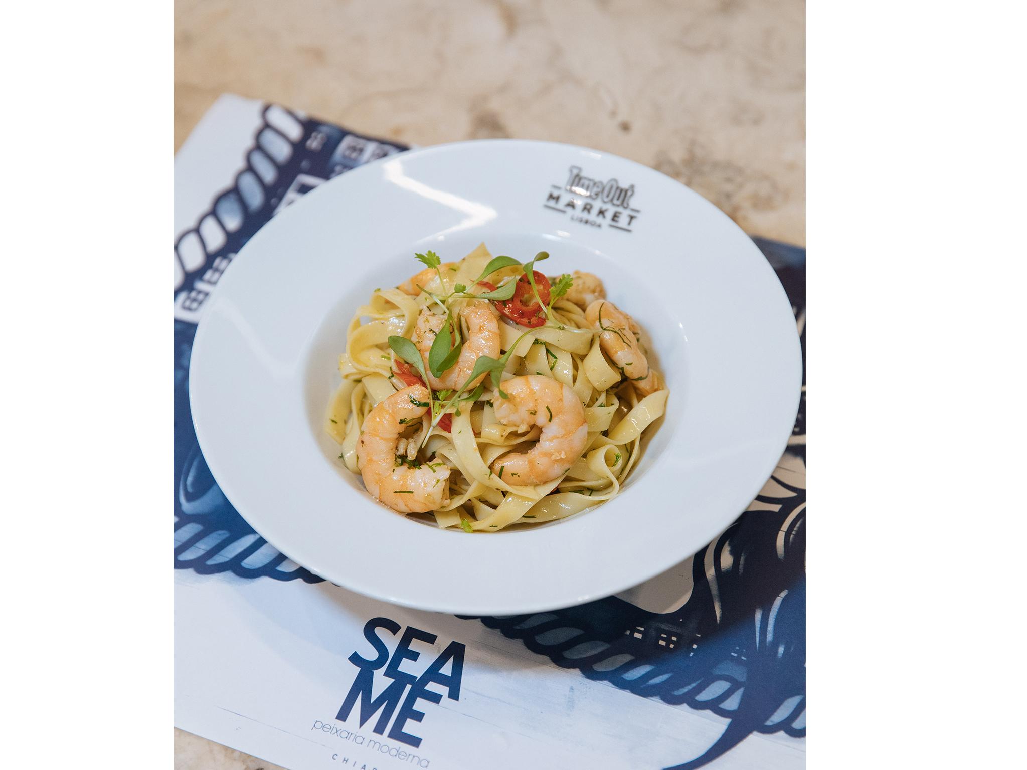 Restaurante, Sea Me, Time Out Market, Tagliatelle de camarão