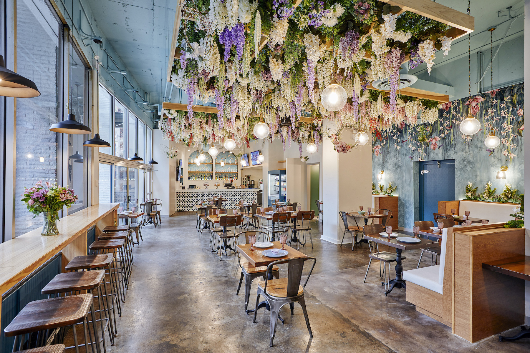 A CBD-centric brunch spot opens with ube pancakes and bubble waffles