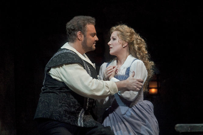 Joseph Calleja as the Duke and Diana Damrau as Gilda in Verdi's Rigoletto