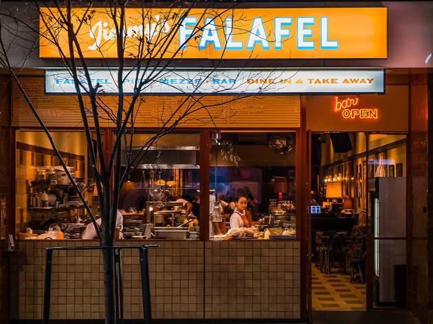 Jimmy's falafel entrance (Photograph: Nikki To)