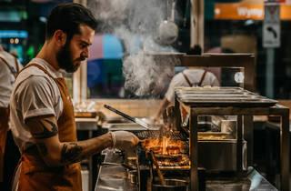 Jimmy's falafel kitchen (Photograph: Nikki To)