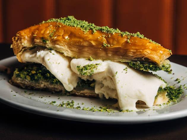 Jimmy's falafel baklava (Photograph: Nikki To)