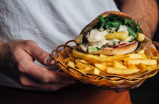 Jimmy's falafel chip pita (Photograph: Nikki To)