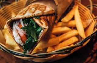 Jimmy's falafel wrap (Photograph: Nikki To)