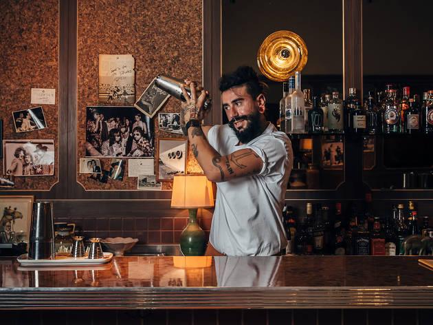 Jimmy's falafel bartender (Photograph: Nikki To)