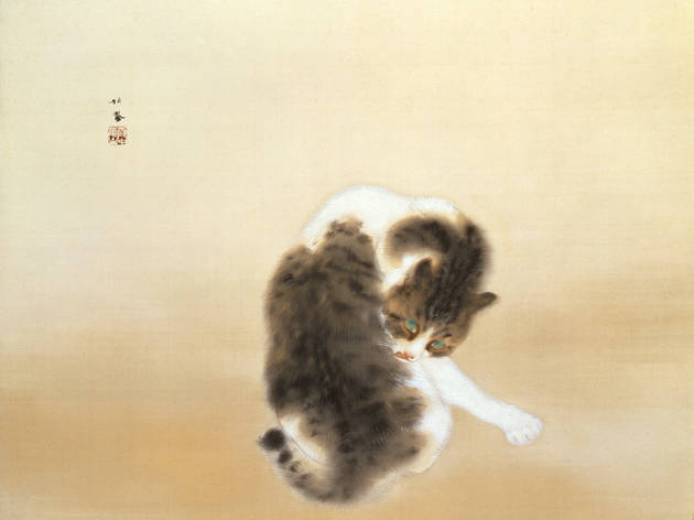 Takeuchi Seiho's Tabby Cat and an Animal Paradise