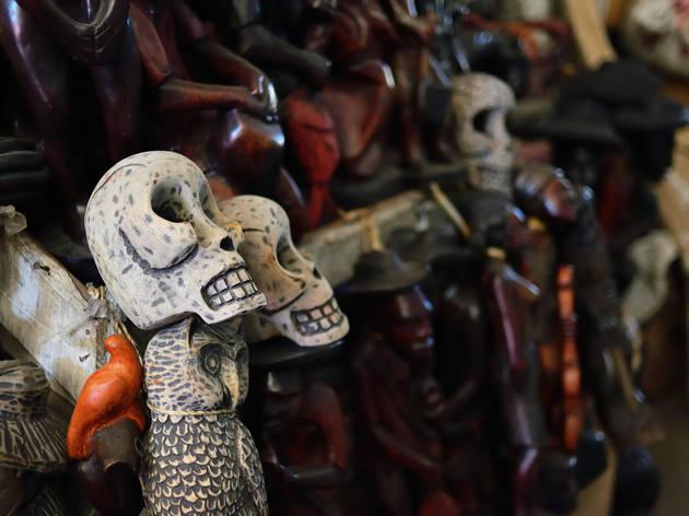 Voodoo figures in Haiti