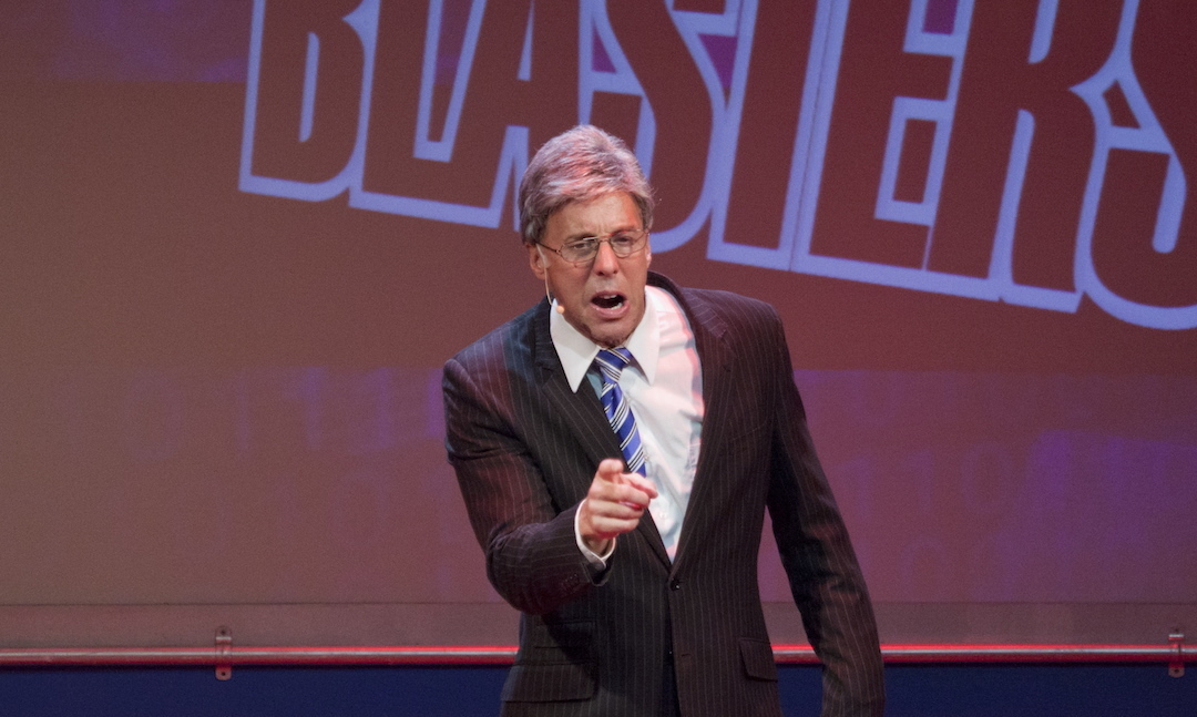 Michael West in Newsical the Musical