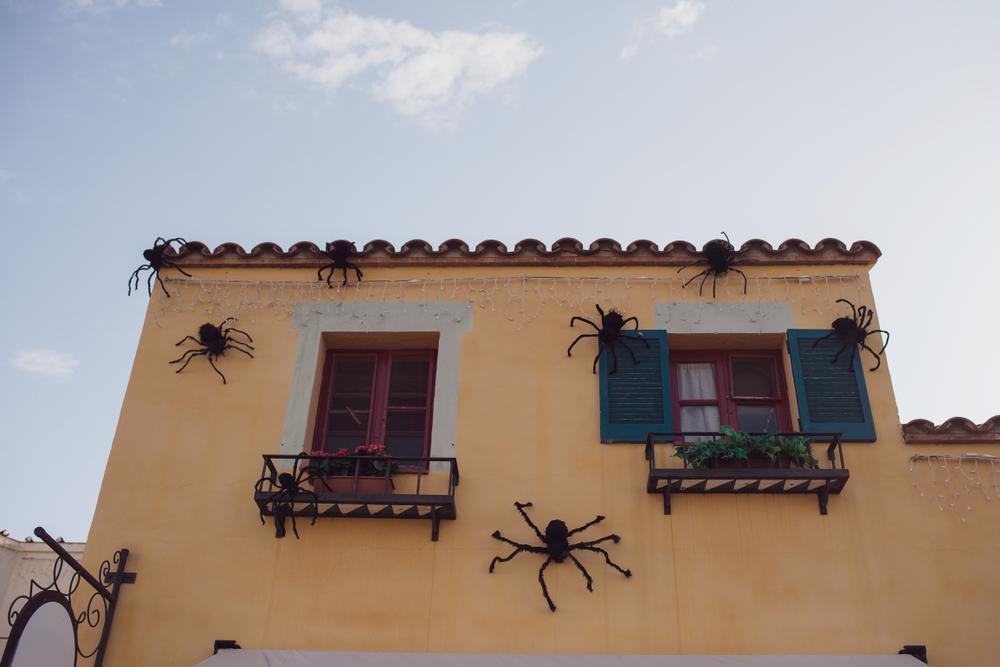 Halloween decorations in Spain