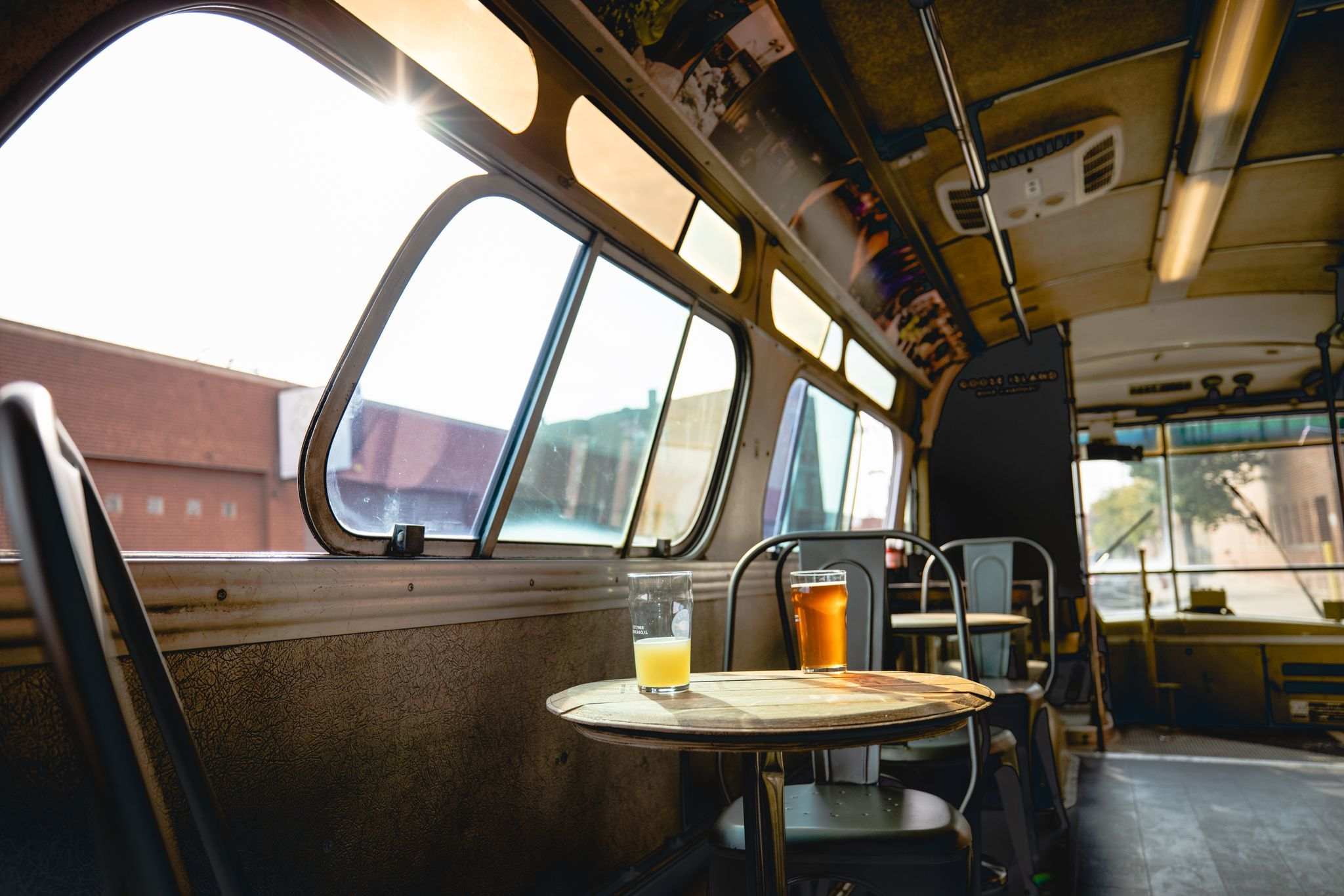 Goose Island has transformed a vintage CTA bus into a private drinking room