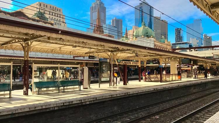 Flinders Street Station empty