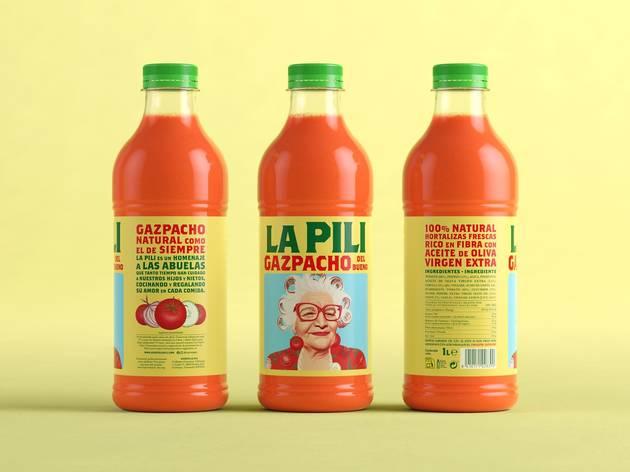 Una botella de gazpacho
