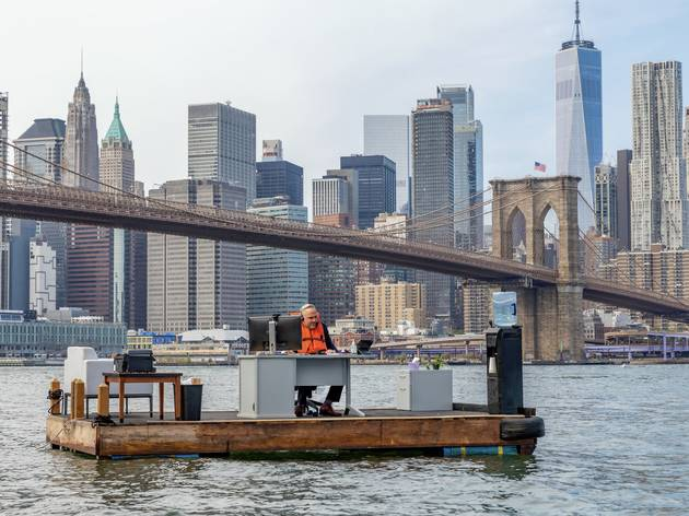 New York's most socially distanced office is in the middle of the East River