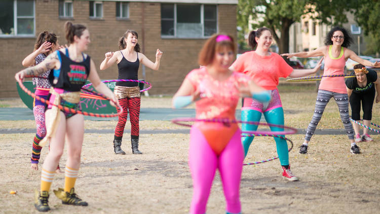 Hoops, Thights and Buttocks hula hooping classes