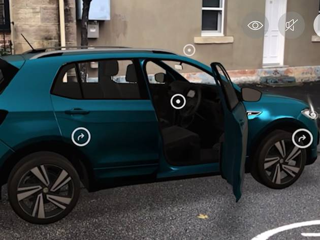 You can try out a Volkswagen online using augmented reality