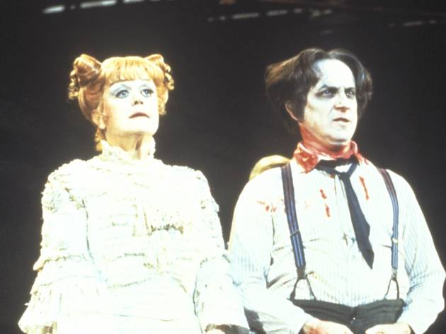 Angela Lansbury and George Hearn in Sweeney Todd