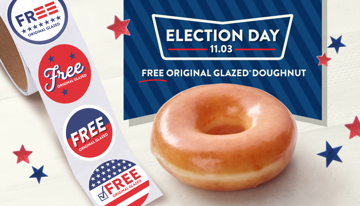 Krispy Kreme is giving away free doughnuts on Election Day